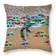 Coastal Crab Collection Throw Pillow
