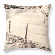 Coastal Dunes In Holland Throw Pillow