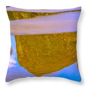 Coastal Landscape In Abstract 2 Throw Pillow