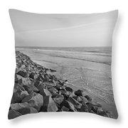 Coastal Lines Throw Pillow
