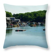 Coastal Maine Bay Throw Pillow