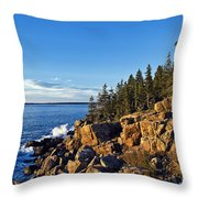Coastal Maine Landscape. Throw Pillow