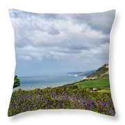 Coastal Overlook From Eype Throw Pillow