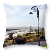 Coastal Overview At Lyme Regis Throw Pillow