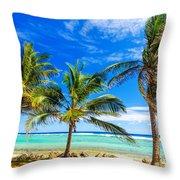 Coastal Palm Trees Throw Pillow