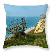 Coastal Path - West Bay To Eype  Throw Pillow