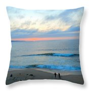Coastal Ribbon Candy Throw Pillow