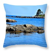 Coastal Route 1 In Maine Throw Pillow