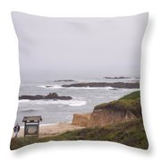 Coastal Scene 7 Throw Pillow