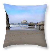 Coastal Sculptures Throw Pillow