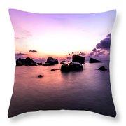 Coastal Sunrise Throw Pillow