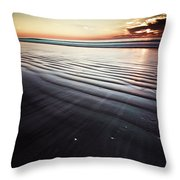Coastal Sunrise Seascape Contemporary Relaxing Wall Art On Canvas Prints Throw Pillow