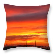 Coastal Sunset Throw Pillow