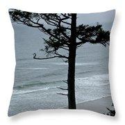 Coastal Tree Throw Pillow