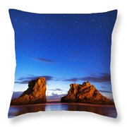Coastal Twilight Throw Pillow