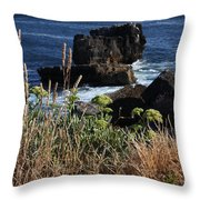 Coastal View From Cascais  Throw Pillow
