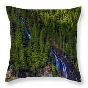 Coastal Waterfall Throw Pillow