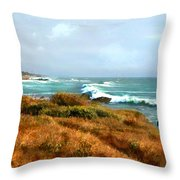 Coastal Waves Roll In To Shore Throw Pillow