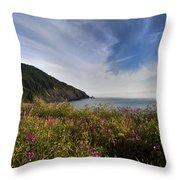 Coastal Wildflowers Of Oregon Throw Pillow