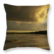 Coastal Winters Afternoon 2 Throw Pillow by Amy-Elizabeth Toomey