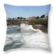 Coastline  Santa Cruz -  California Throw Pillow