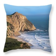 Coastline At Point Reyes National Sea Throw Pillow