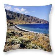 Coastline Of Hierro Island Throw Pillow