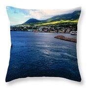 Coastline Of St Kitts Throw Pillow