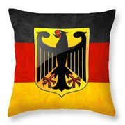 Coat Of Arms And Flag Of Germany Throw Pillow