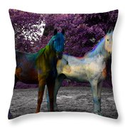 Coats Of Many Colors Throw Pillow