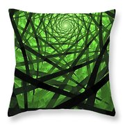 Coaxial Jungle Throw Pillow