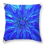 Cobalt Mandala  Throw Pillow