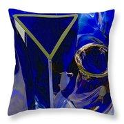 Cobalt Therapy Throw Pillow