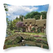 Cobble Walk Cottage Throw Pillow