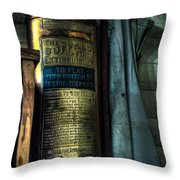 Cobblers Fire Extinguisher Throw Pillow