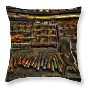 Cobblers Tools Throw Pillow