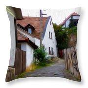Cobblestone Road Throw Pillow