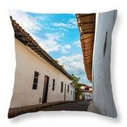 Cobblestone Street Throw Pillow