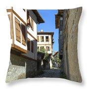 Cobblestone Village Street Throw Pillow