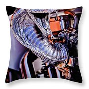 Cobra Breath Throw Pillow