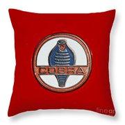 Cobra Emblem Throw Pillow