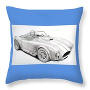 Ac Ford Cobra With 427  Throw Pillow
