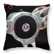 Cobra Steering Wheel Throw Pillow