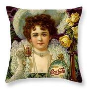 Coca Cola 5 Cents Throw Pillow