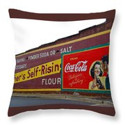 Coca Cola Advertisement Throw Pillow