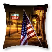 Coca-cola And America Throw Pillow