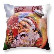 Coca Cola Christmas Bulbs Throw Pillow