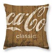 Coca Cola Classic Barn Throw Pillow