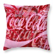 Coca-cola Collage Throw Pillow by Tony Rubino