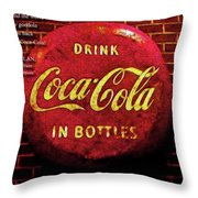 Coca Cola Dylan Quote Throw Pillow